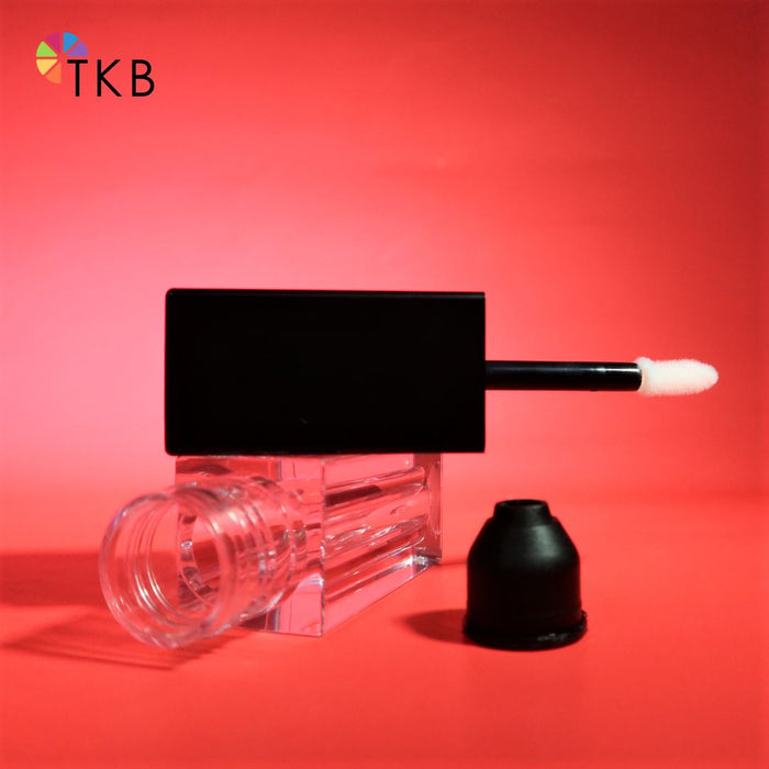 Matte Black 5ml Lip Gloss Tubes