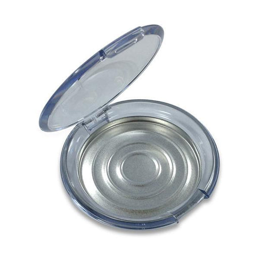Clear Round Compact with Tin