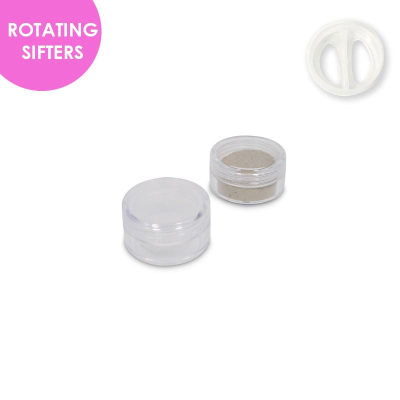 Jars: Clear and ROTATING Sifters