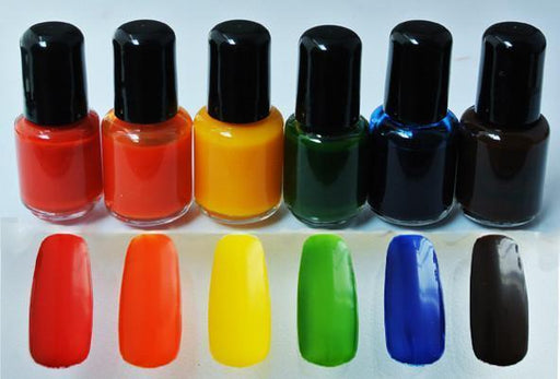 7ml Nail Polish Pack:  Red/Yellow/Blue - TKB Trading LLC
