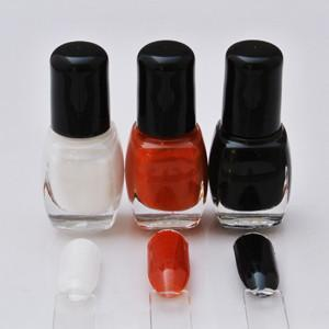 7ml Nail Polish Pack: Black/White/Brown
