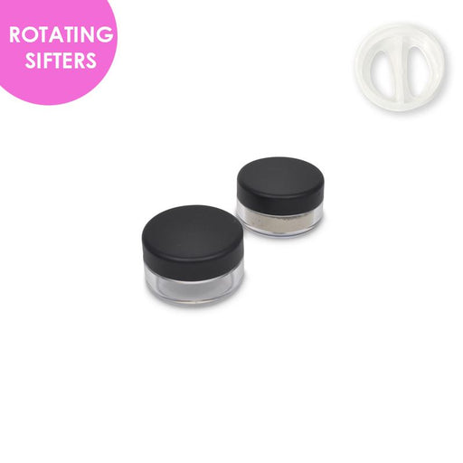Jars: Matte Black and ROTATING Sifters