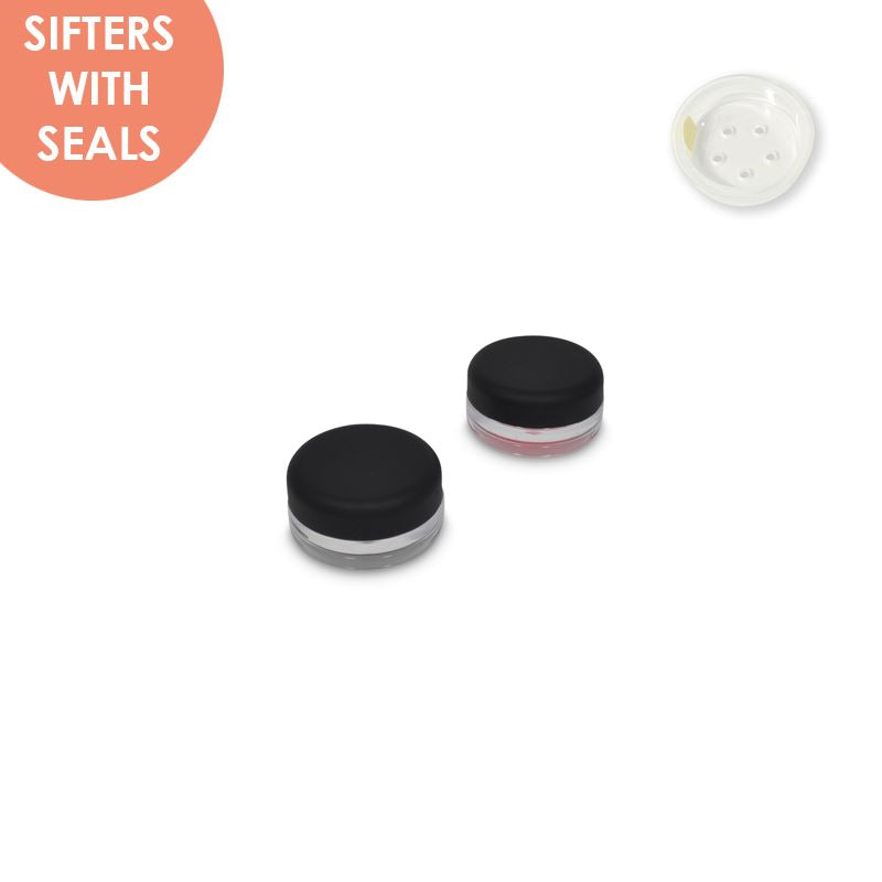 Jars: Matte Black and Sifters with Seals