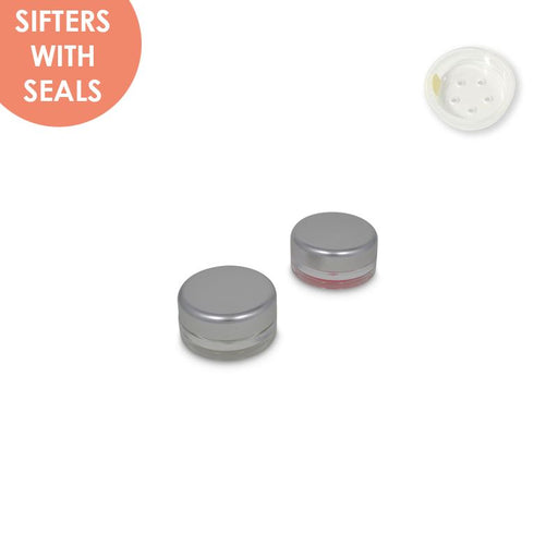 Jars: Matte Silver and Sifters with Seals