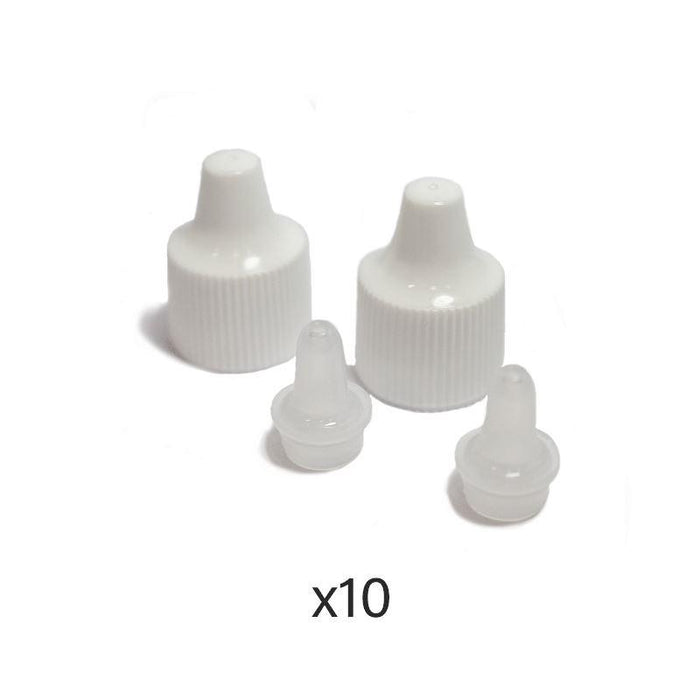 Small Natural Plastic Bottles and Caps