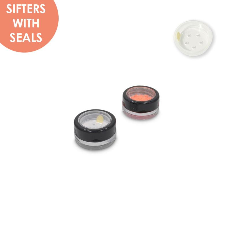 Jars: Shiny Black Rim and Sifters with Seals