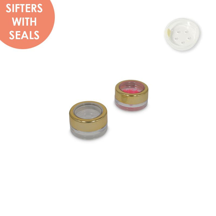 Jars: Shiny Gold Rim and Sifters with Seals