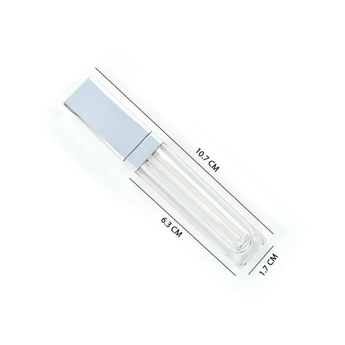 Silver Square Lip Gloss Tube
