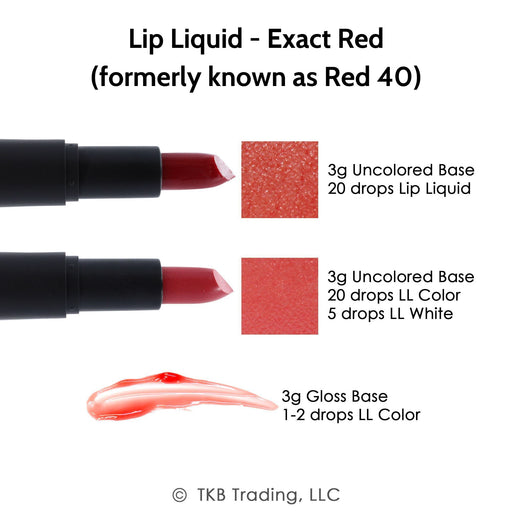 TKB Lip Liquid - Exact Red