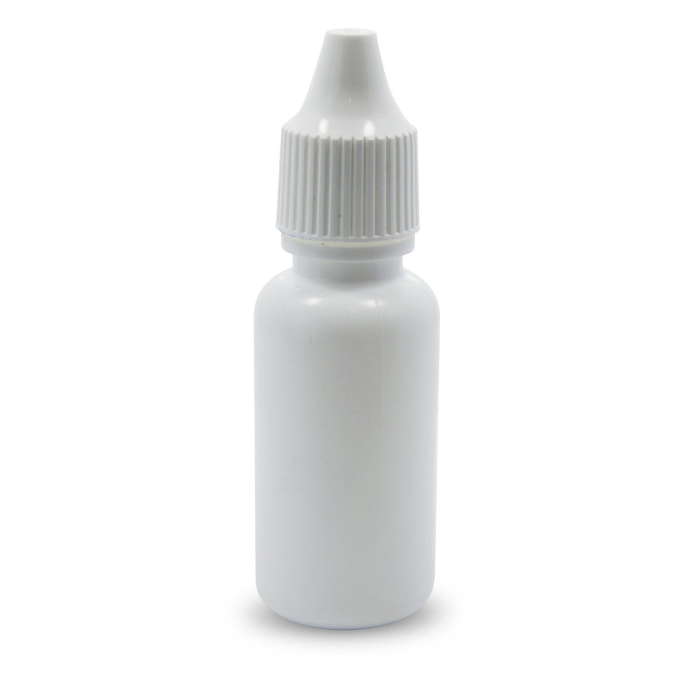 1/2 fl oz White Dropper Bottle, pack of 20 - TKB Trading LLC