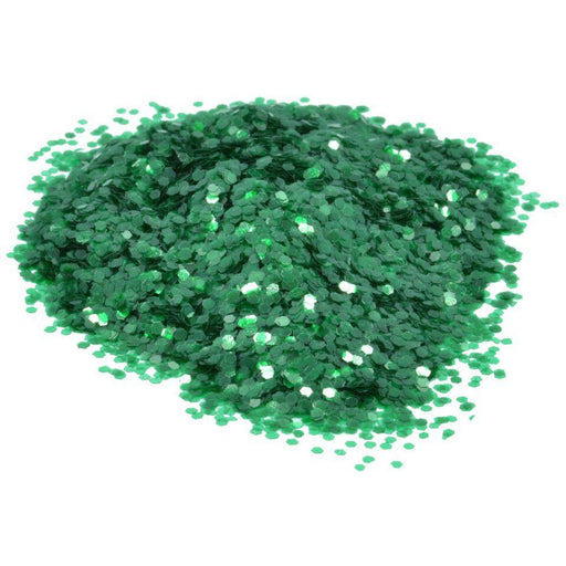 Glass Green Mosaic Glitter
