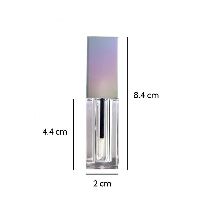 Holographic Silver 5ml Lip Gloss Tubes