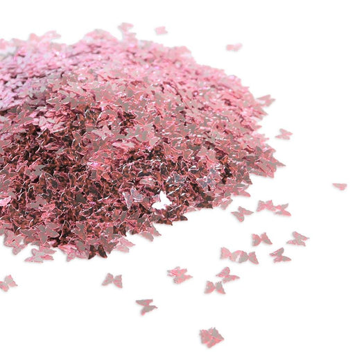 Metallic Pink Butterfly Glitter Chunky