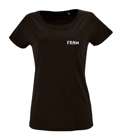 Fraw Back Bull Women's T - Black