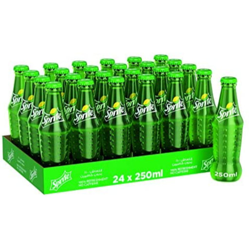 Sprite - Regular Carbonated Soft Drink Glass Bottles 250ml X 24 - ClicknCollect