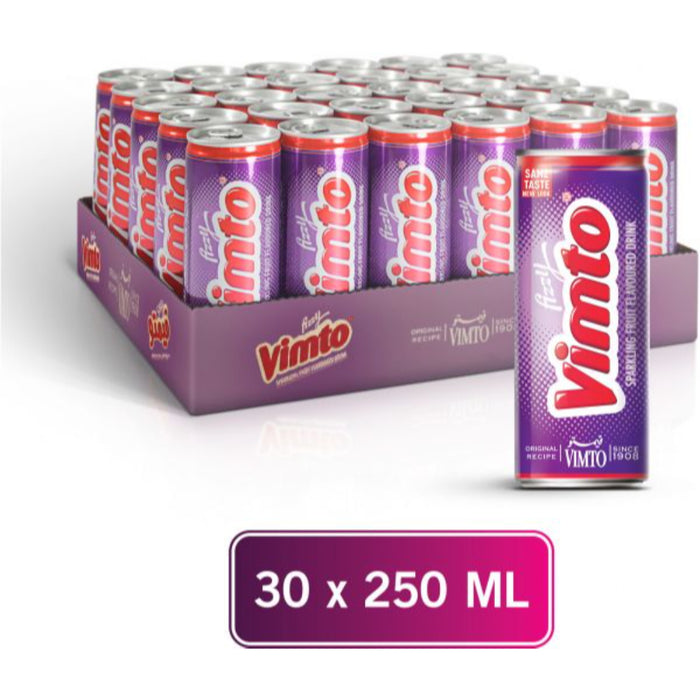 Vimto Sparkling Fruit Flavored Drink Can 250ml X 30