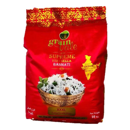 Grainvale Supreme 1121 Sella Basmati Rice - 10Kgs - ClicknCollect