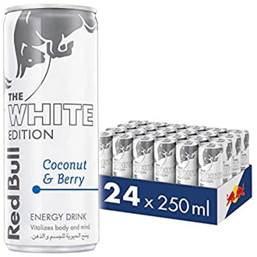 Redbull White Special Edition Drink - 250ml (Pack of 24) - ClicknCollect