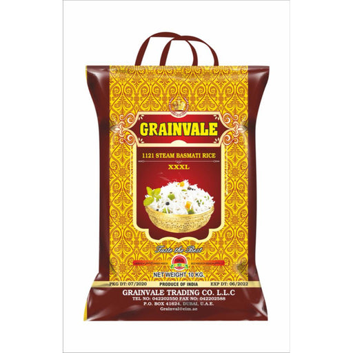 Grainvale Steam 1121 Sella Pure Basmati Rice - 10Kgs - ClicknCollect