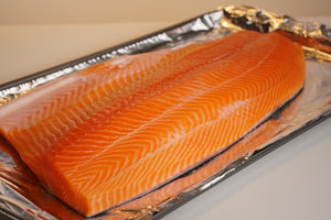 Sashimi Cut Salmon Fillet 15 lbs
