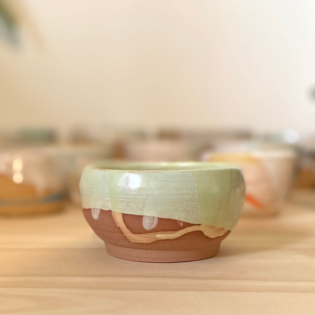 Mint with drips bowl