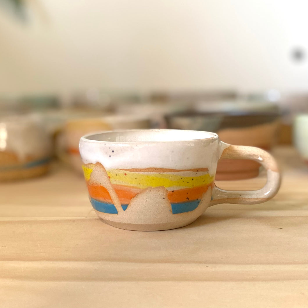 Rainbow stripe cup