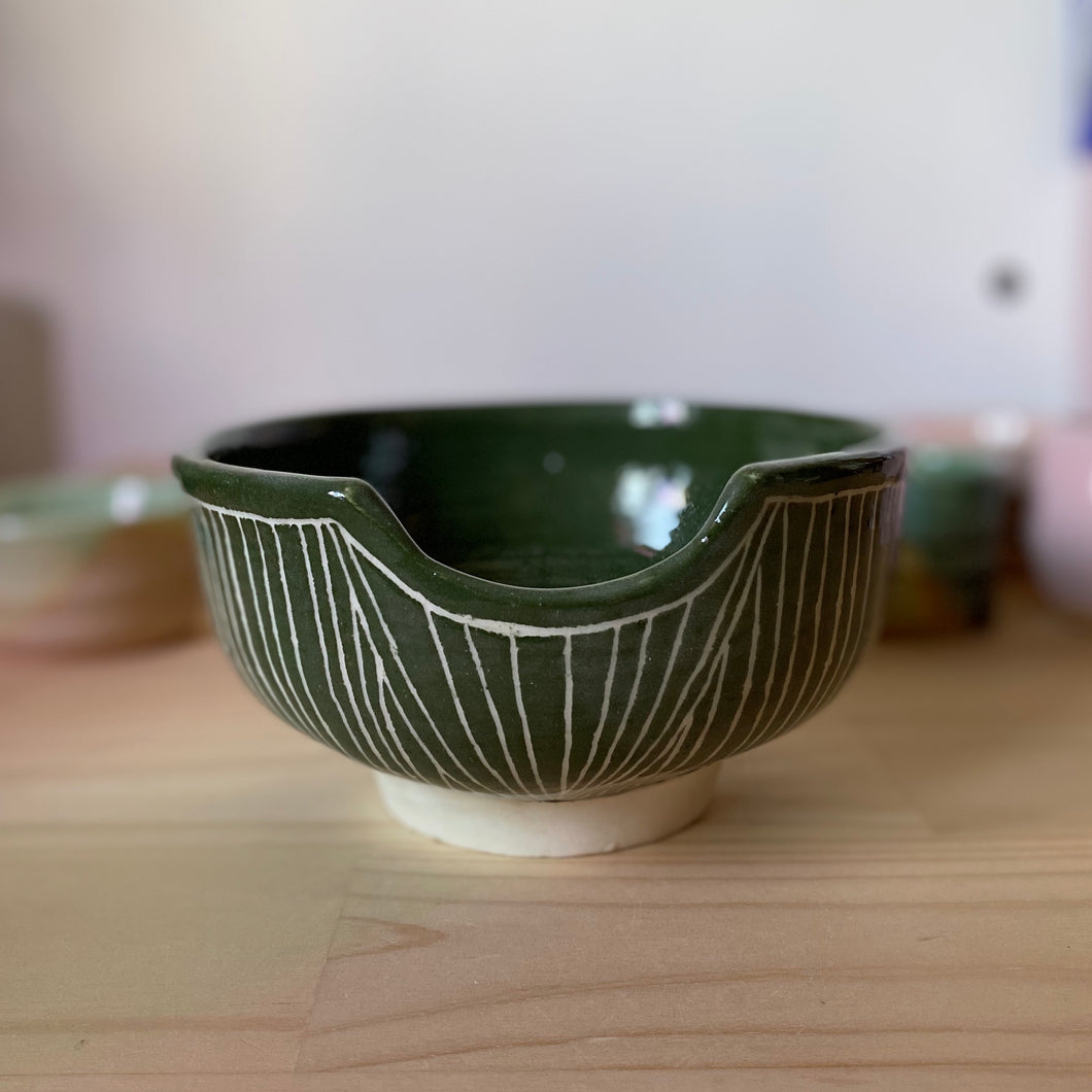 Forest green vessel