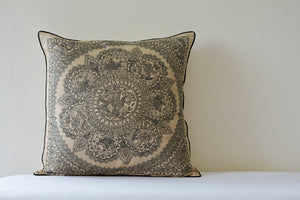 Madhubani Square Cushion Cover