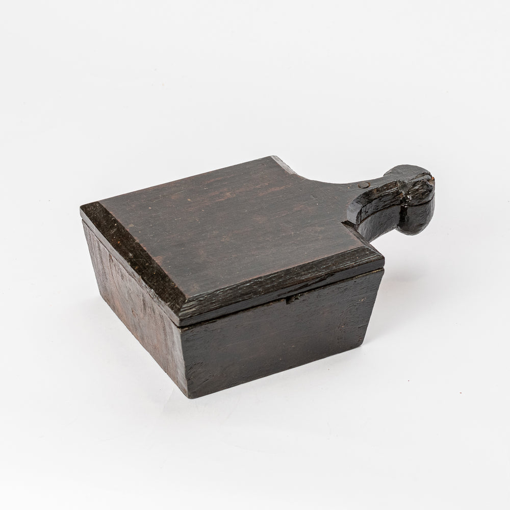 Vintage Wooden Square Spice Box