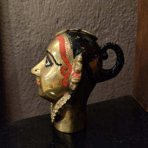 Load image into Gallery viewer, Vintage Brass Gauri Head
