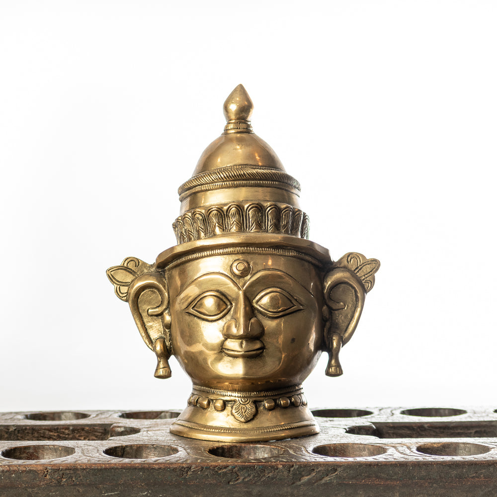 Handcrafted Brass Gauri Mask