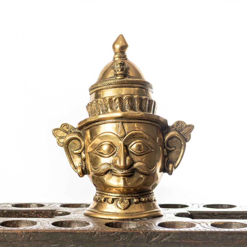 Handcrafted Brass Shiva Mask