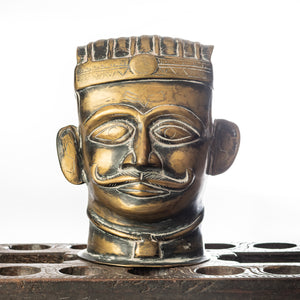 Load image into Gallery viewer, Handcrafted Brass Shiva Head