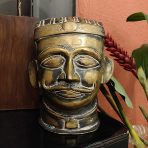 Handcrafted Brass Shiva Head