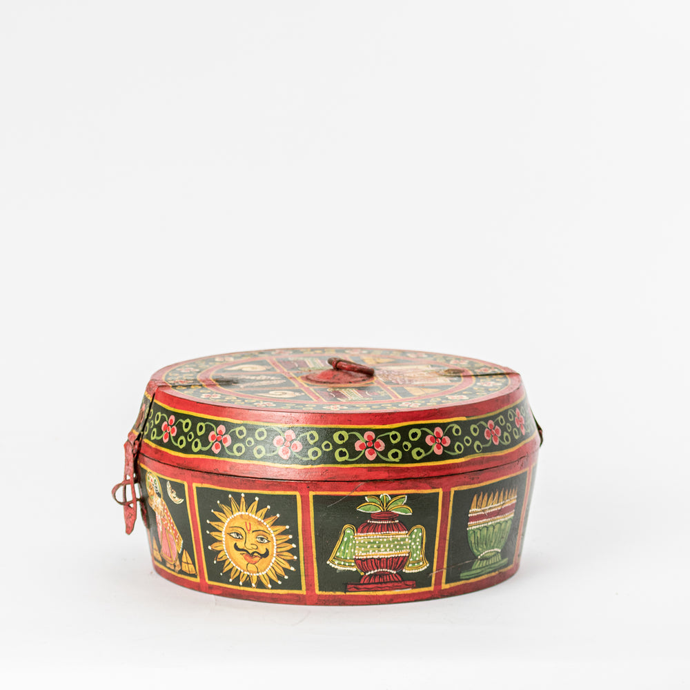 Handpainted Wooden Jewelry Box (Black)