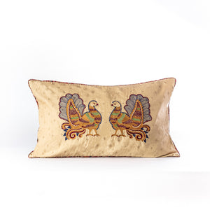 Load image into Gallery viewer, Kalamkari inspired Annapakshi cushion cover