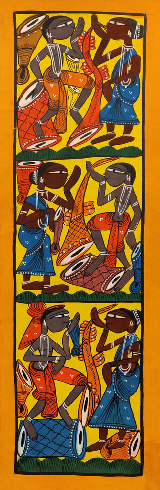 Load image into Gallery viewer, BENGAL PATTACHITRA : Santhal Music