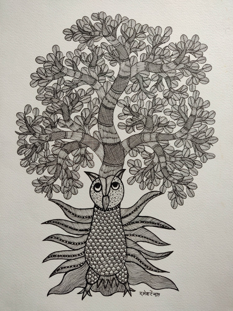 Load image into Gallery viewer, GOND : Owl