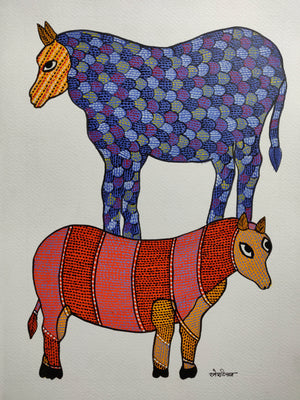 GOND : Two Sheep