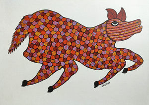Load image into Gallery viewer, GOND : Red Horse