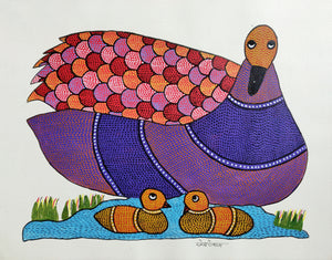 GOND : Mother Duck and Babies