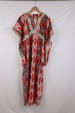 Red aztec Kaftan