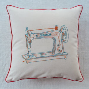 Load image into Gallery viewer, Retro Sewing Machine Cushion Cover