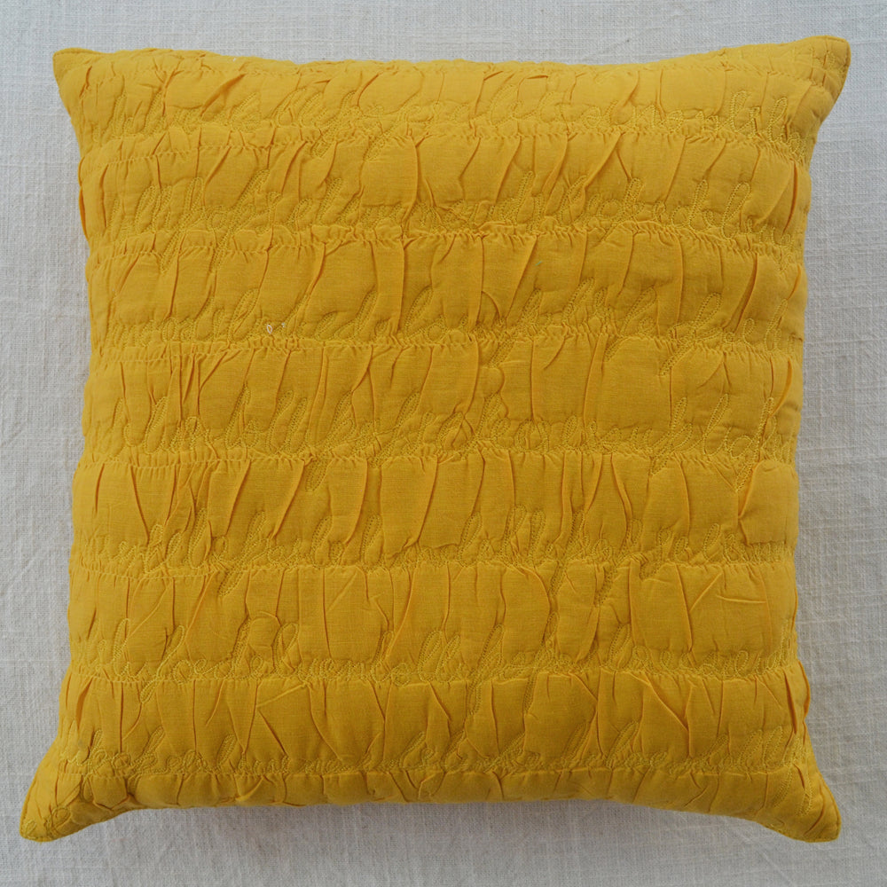 Letters Mango Cushion Cover
