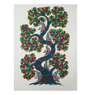 Load image into Gallery viewer, GOND : Birds on a Tree