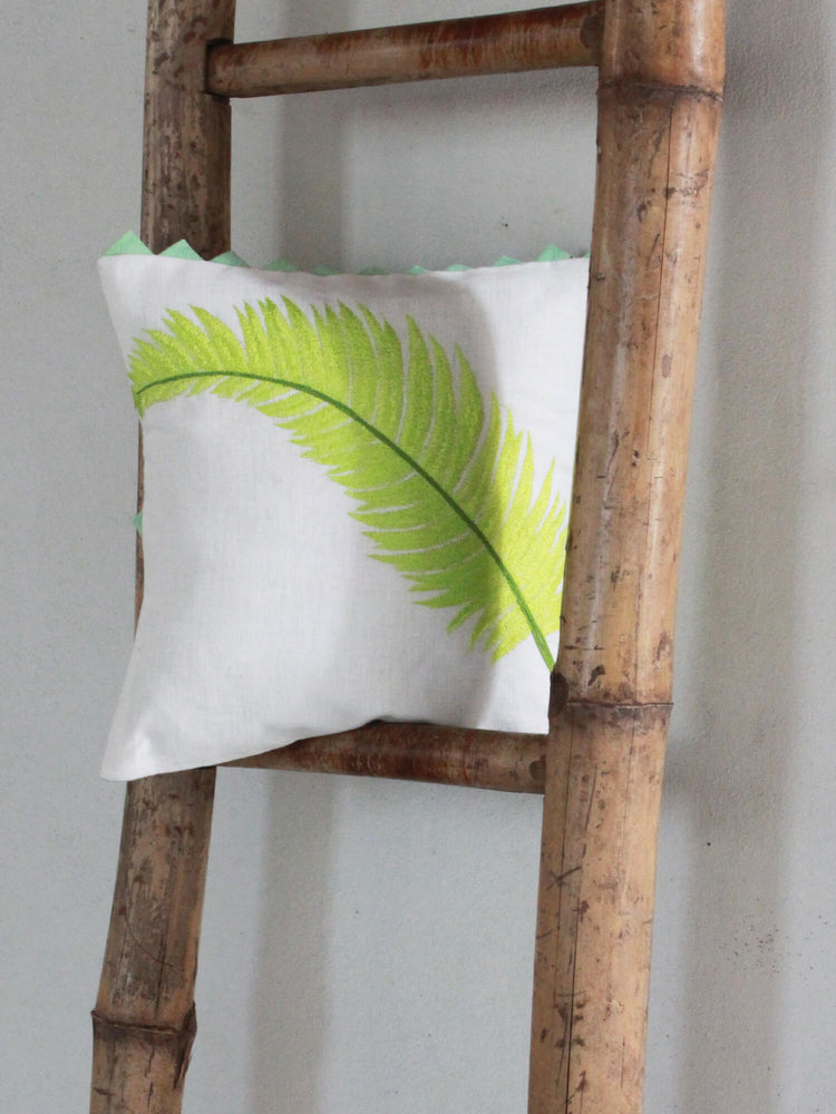 Tropical Areca Palm - Lime Cushion Cover