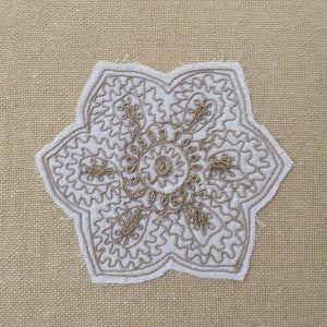 Countryfolk Floral Patch Ivory Cushion Cover