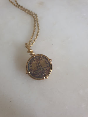 Load image into Gallery viewer, Coin (1 paisa) Pendant