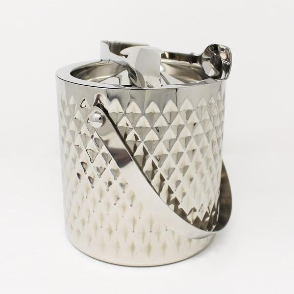 Diamond Ice Bucket with Tongs