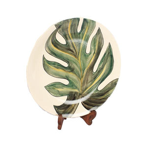 Load image into Gallery viewer, Handpainted Leaf Rice Plate